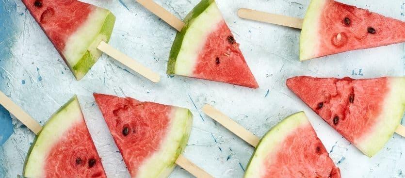 Frutas y verduras de temporada en verano
